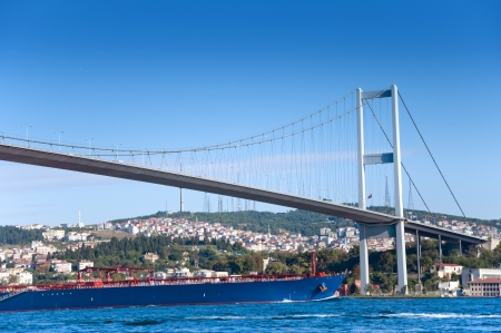 bosporus: The Bosphorus Bridge, Istanbul - Turkey Stock Photo