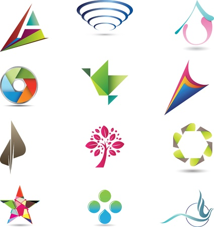 Twelve pieces of modern, strong and elegant design elements and icons Stock Photo - 20880898