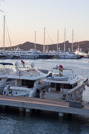 Yacht marina in Yalikavak, Bodrum - Turkey