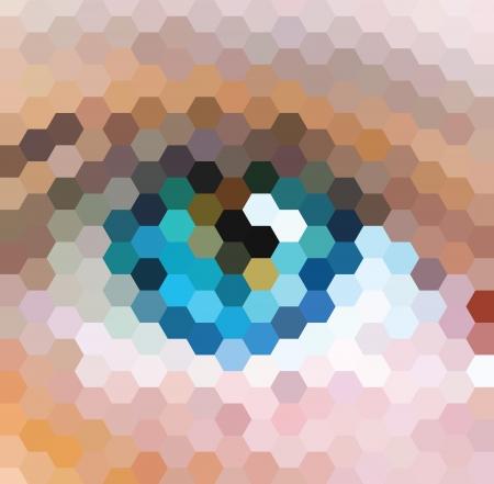 eye sight: hexagon pattern background with a blue eye shape