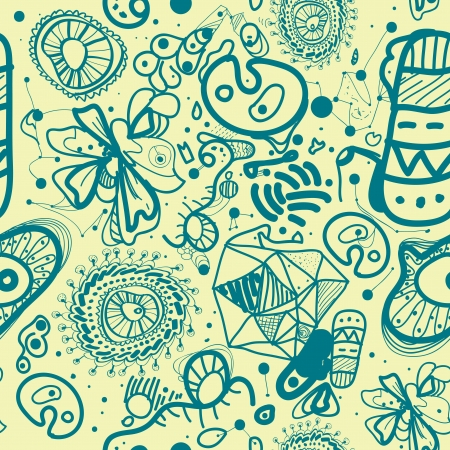 Vector seamless pattern background with abstract shapes Vector