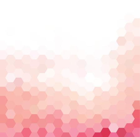 ピンクと白の六角形のパターン ベクトルの背景