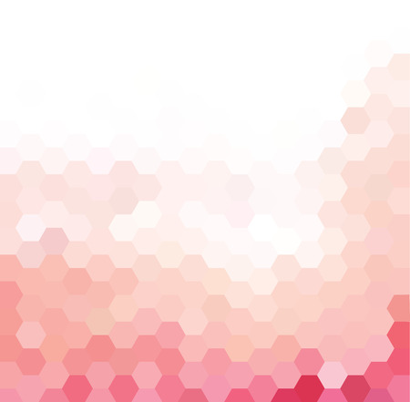 Vector background with pink and white hexagonal pattern Illustration