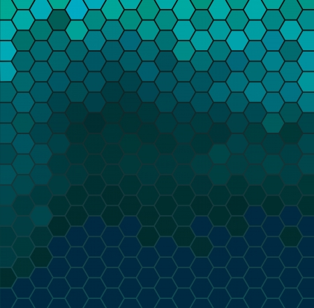 pixelation: Vector background with dark emerald hexagonal pattern
