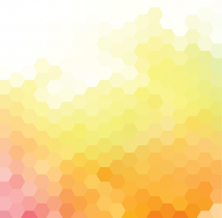 hexagonal: Vector background with bright orange, yellow and pink hexagonal pattern