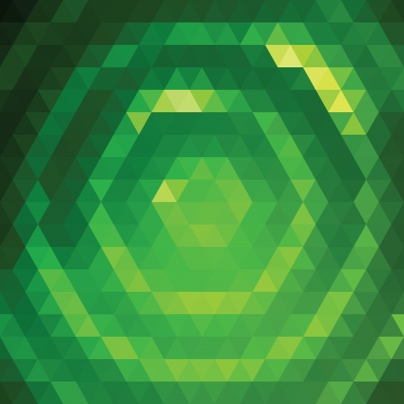 Vector background with green triangular pattern Vector