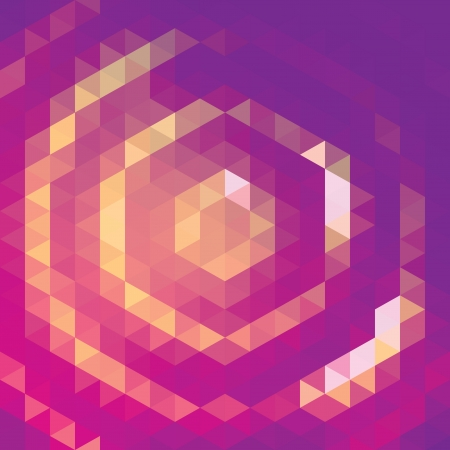 pixelation: Vector background with purple and yellow toned triangular pattern Illustration