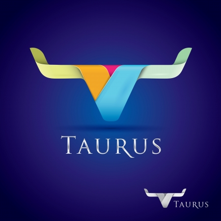 Luxurious and beautifully stylized taurus sign icon 向量圖像