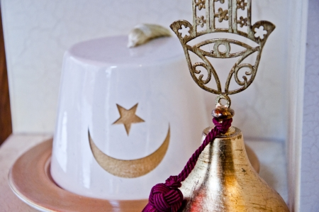 fez: Ottoman-Turkish touristic souvenirs, handmade traditional decorative items