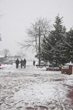 constantinople: Ortakoy in Winter, Istanbul - Turkey Stock Photo