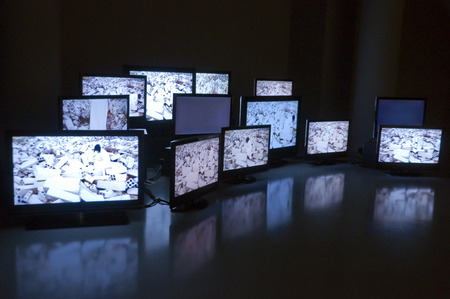 Art installation with screens