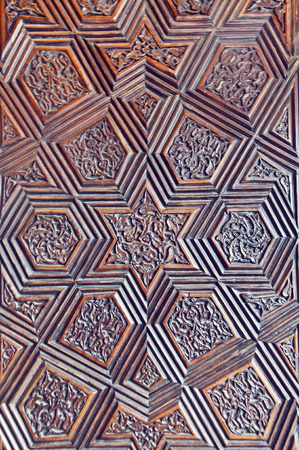 door bolt: Ottoman-Turkish style wooden carving art background