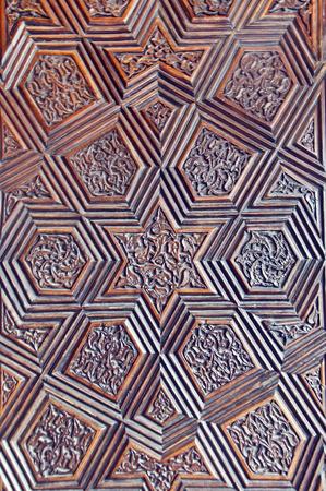 door leaf: Ottoman-Turkish style wooden carving art background