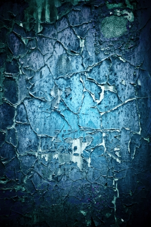 Blue painted wooden texture photo