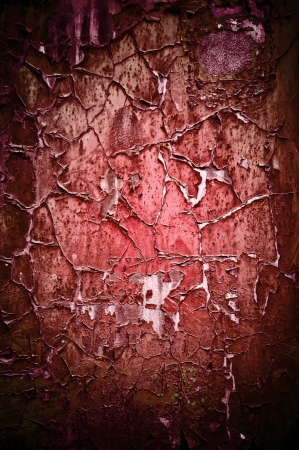Red painted wooden texture photo