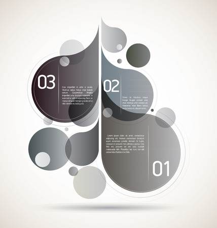 Grey flourish composition for your flourishing creative ideas Vector