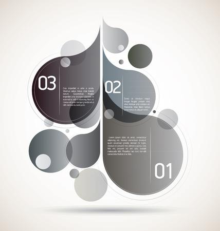 Grey flourish composition for your flourishing creative ideas Illustration