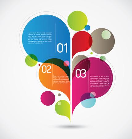 colorful slide: Grey flourish composition for your flourishing creative ideas Illustration