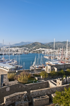mugla: view from Bodrum, popular touristic destination on Aegean cost of Turkey Stock Photo