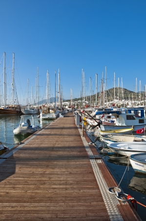 mugla: view from Bodrum, popular touristic destination on Aegean cost of Turkey Editorial