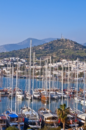 view from Bodrum, popular touristic destination on Aegean cost of Turkey