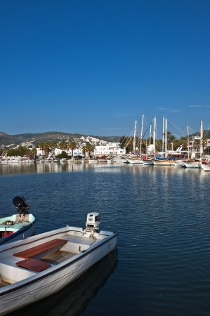 view from Bodrum, popular touristic destination on Aegean cost of Turkey Editorial