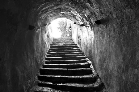 narrow: Ancient stairway