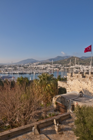 view from Bodrum, popular touristic destination on Aegean cost of Turkey Stock Photo