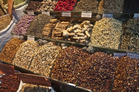 Dried herb teas and spices in Grand Bazaar,   305;stanbul