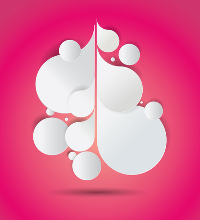 Vector background with drop shaped paper composition which can be used as a copy space for your text Vector