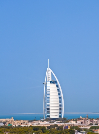 FEB 27, 2013 - UAE  The iconic sail-shaped five star hotel building  Burj al Arab  located in Jumeirah, Dubai, United Arab Emirates  taken in 2013