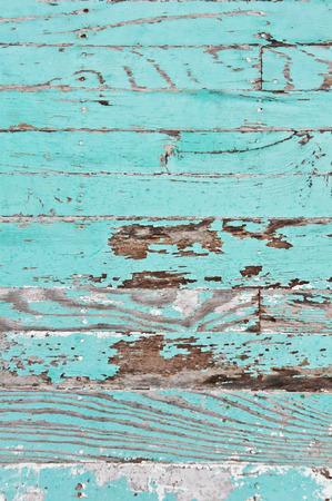 aquamarin: Grunge Holzplatten mit gesch�lten Farbschicht