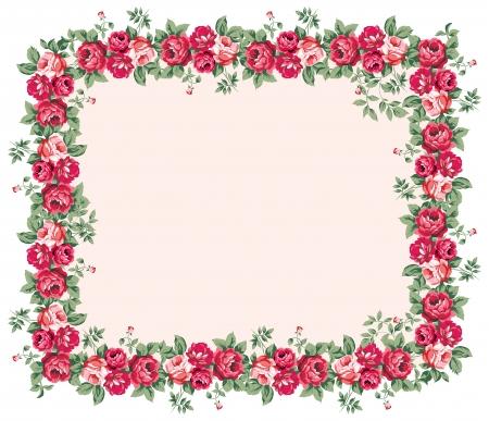 rosas amarillas: Shabby marco rosa