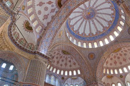 iznik: Interior view of the Blue Mosque or Sultanahmet Camii
