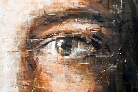 目のブラシ ストロークのテクスチャの背景 写真素材