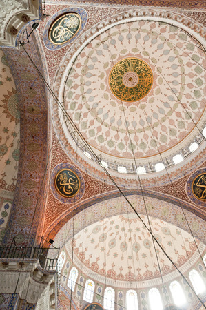 Architectural detail from the New Mosque or Yeni Camii in Eminonu area, Istanbul