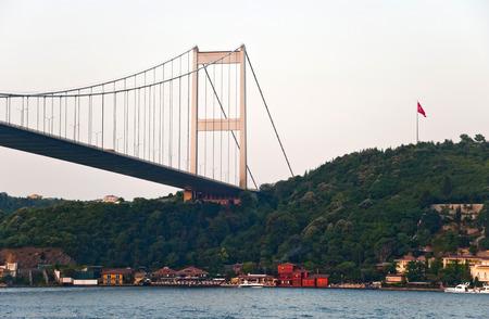 koprusu: Fatih Sultan Mehmet  FSM  Bridge, Istanbul Stock Photo