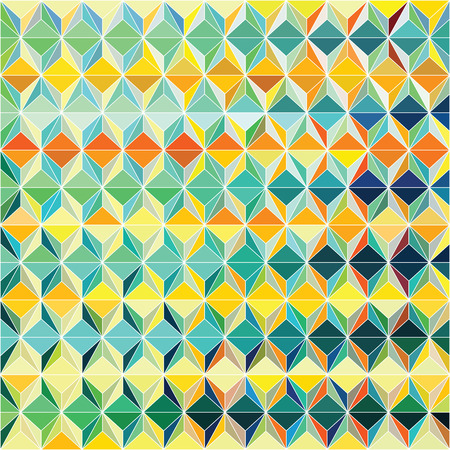 pop art herringbone pattern: Funky vector pattern design with colorful triagular composition