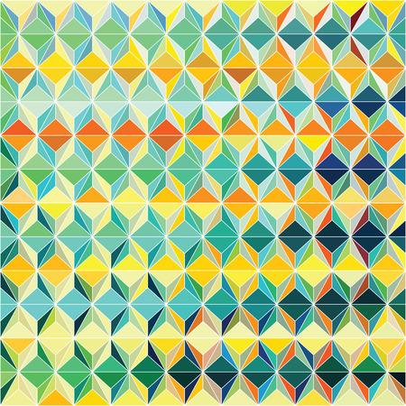 horizontal lines: Patrón de diseño vectorial Funky con la composición triagular colorido