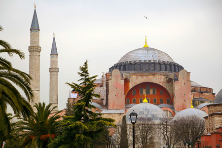islamic scenery: Hagia Sophia, Istanbul, Turkey Stock Photo
