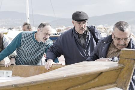 fischerei: Fishery in Gemlik, Bursa, Türkei Editorial