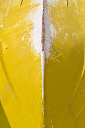 Yellow rowing boat bottom texture photo