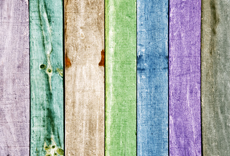 Colorful wooden panels background photo