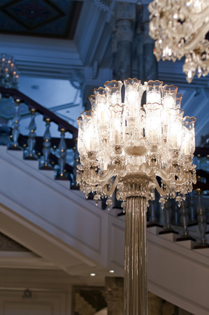 Luxurious chandelier photo