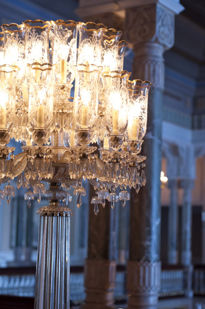 Luxurious chandelier photo