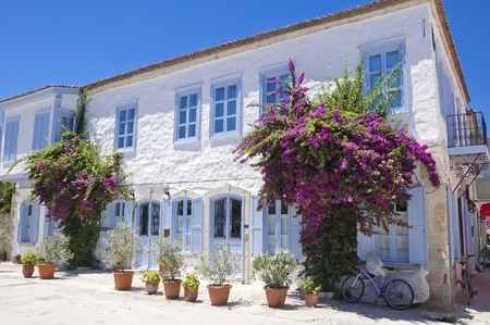holiday destination: View from Alacati, popular summer holiday destination in Aegean coast of Turkey