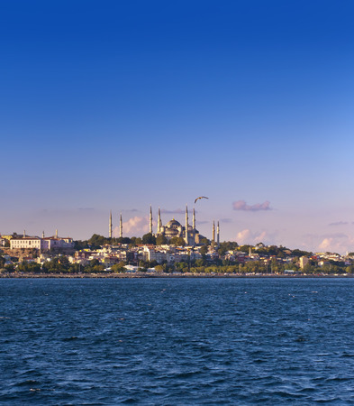 constantinople: Sultanahmet Mosque from the Marmara Sea, Istanbul