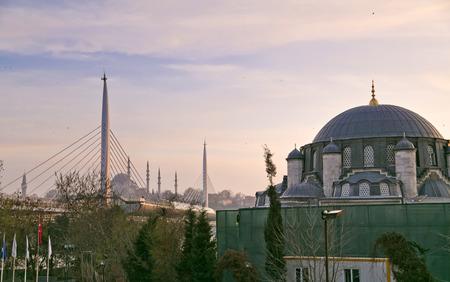 Unkapani Metro Bridge over the Golden Horn, Istanbul photo