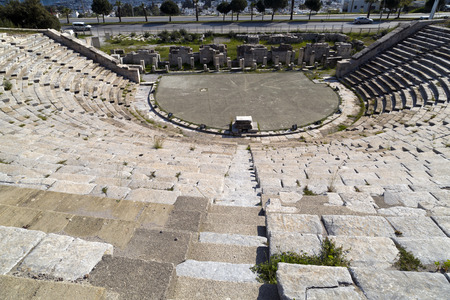 bougainvillea: Amphitheater of Halicarnassus, Bodrum, Turkey