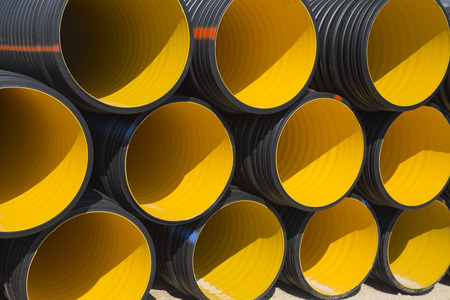 PVC tube pipes Stock Photo